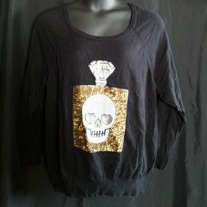 Torrid skull perfume bottle sequins 4